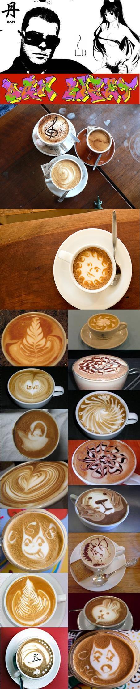 Cool Coffee Art