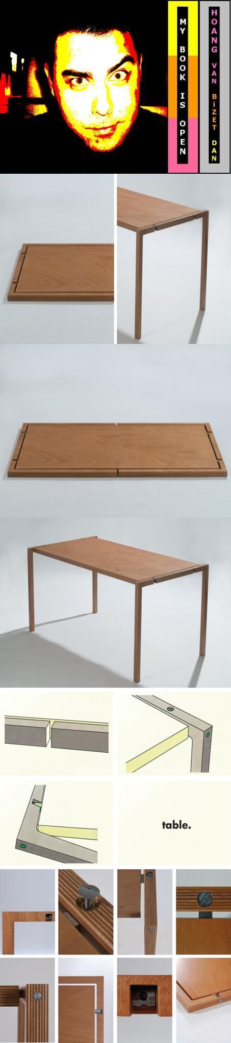 Minimalist Folding Table By Lodovico Bernardi