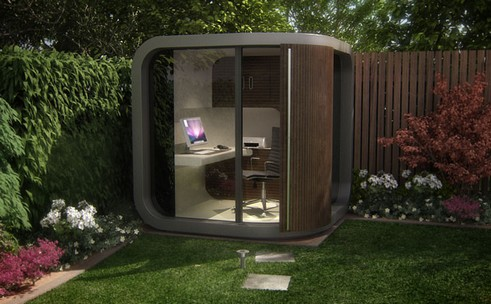 avoir un mini bureau au fond du jardin possible avec officepod my book is open. Black Bedroom Furniture Sets. Home Design Ideas