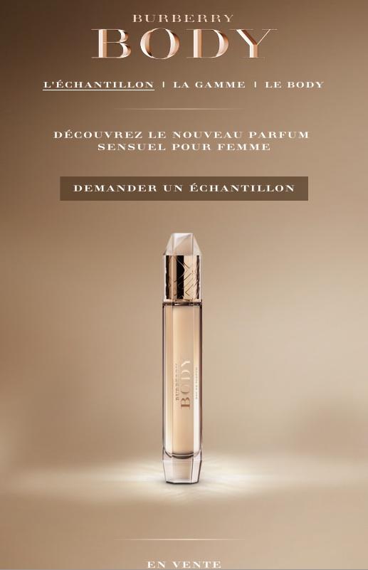 Votre Burberry Body Parfum – Du Recevez Échantillon Nouveau PZiOkXu