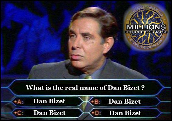 Qui veux Gagner des Millions Questions Editions Spéciales #DanBizet