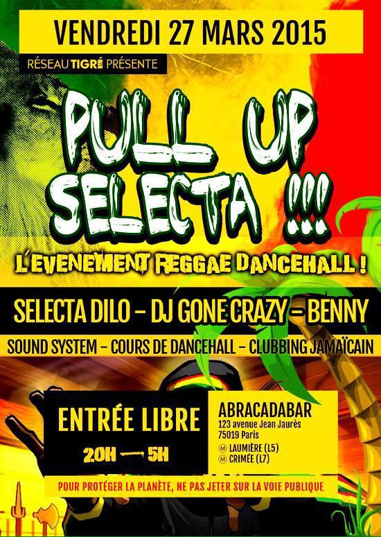 [#SelectaDilo] [#KillaSwingSoundMusic] Vendredi 27 Mars #Soirée #PullUpSelecta #ReggaeDanceHall Entree LIBRE !