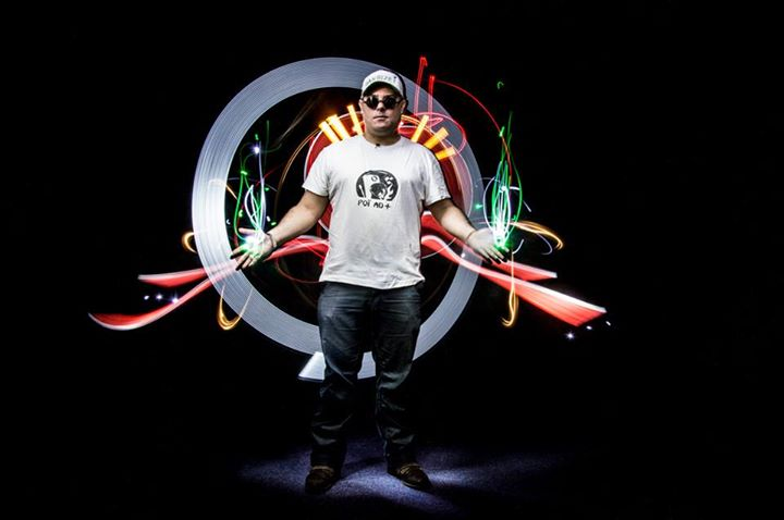 Light Painting by HIDe with #DanBizet Poï AD+