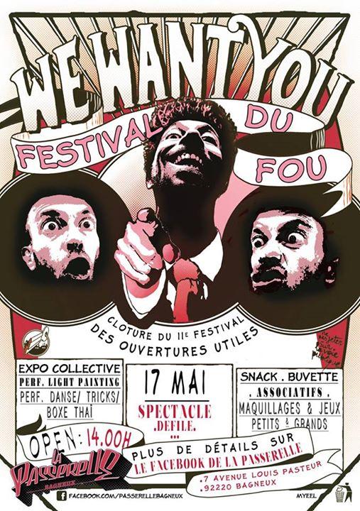 Festival du Fou à La Passerelle Bagneux