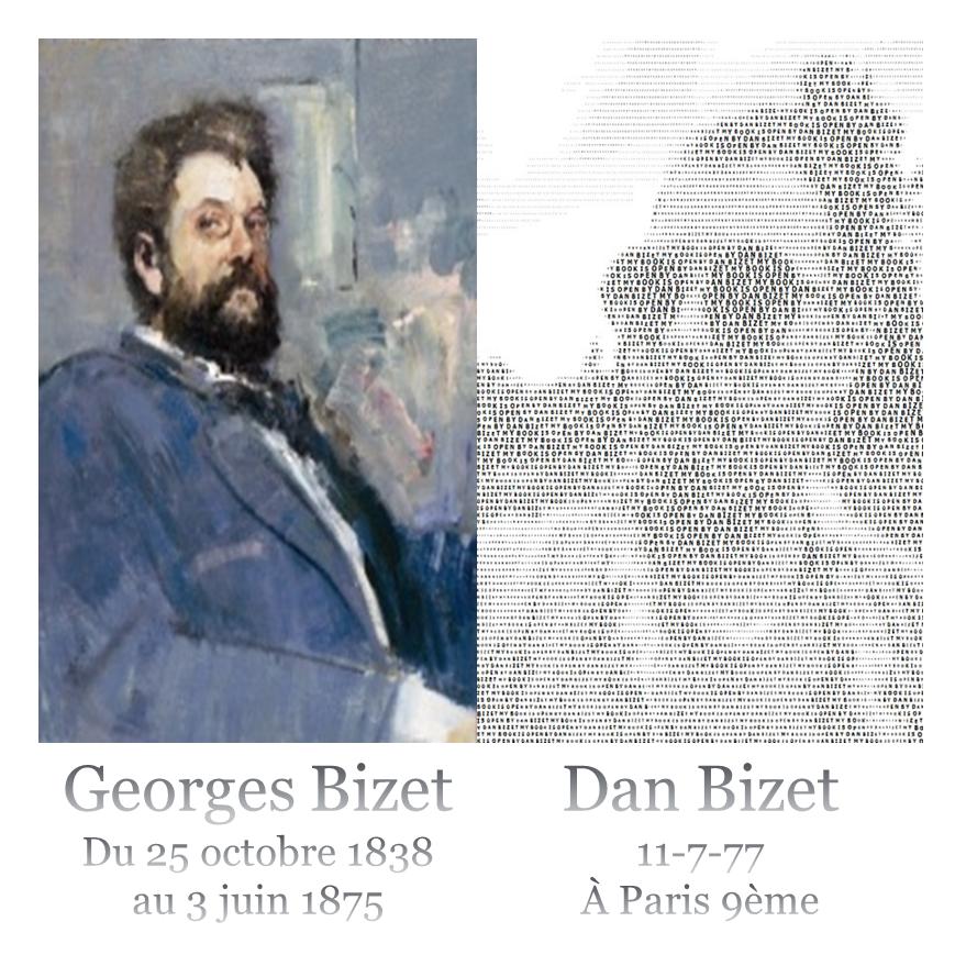Polaroïd Dan Bizet & Georges Bizet