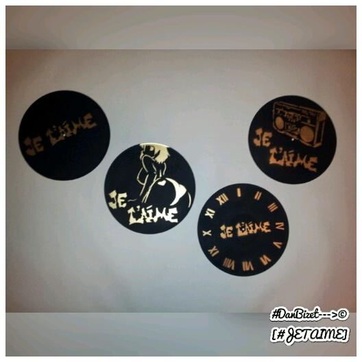 Fanny en Version Tétraptyque – Vinyl Paint Stencil Pochoir Street Art (2)