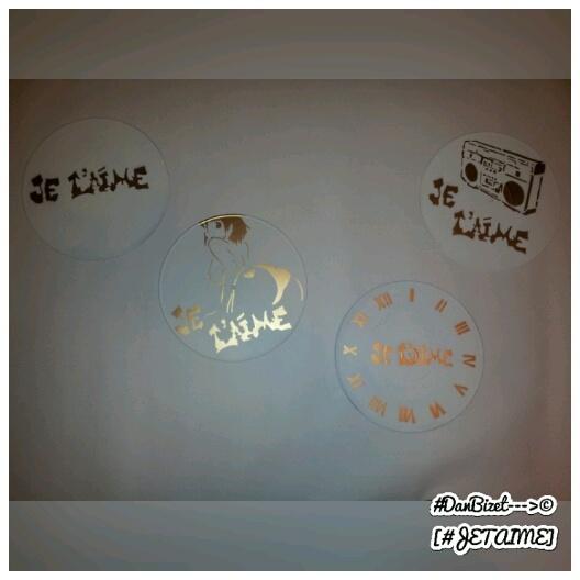 Fanny en Version Tétraptyque – Vinyl Paint Stencil Pochoir Street Art