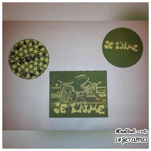 Première Version Triptyque Pin-up - Art Créations by #DanBizet[#JETAIME] peinture paint street art urban stencilart