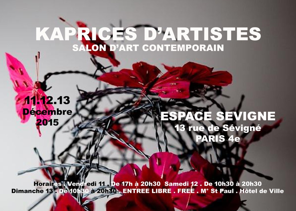Dan Bizet Invitation Salon Expo KAPRICES D'ARTISTES 12&13Déc K15