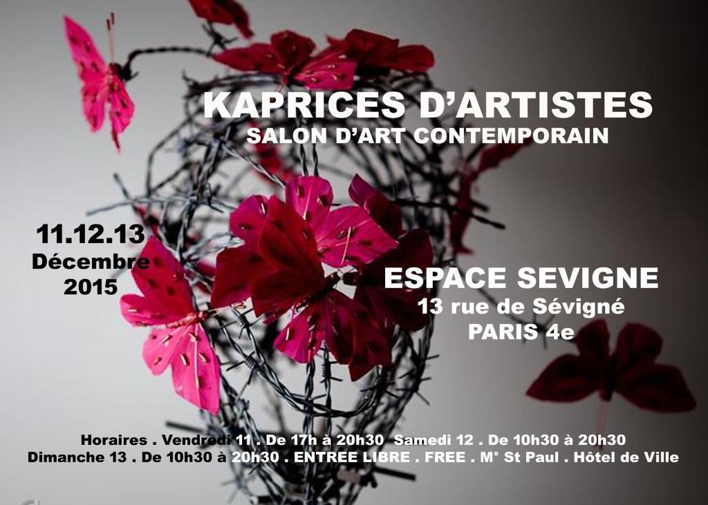 Dan Bizet Invitation Vernissage KAPRICES D'ARTISTES 11Déc K15